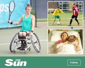 Laure Jones featured in The Sun newspaper