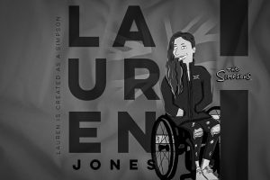Lauren Jones as a Simpson