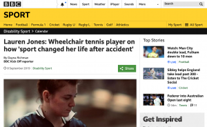 Lauren Jones on BBC Sport