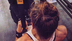 Lauren in the gym