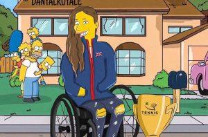 Lauren Jones (Wheelchair tennis player) as a Simpson.